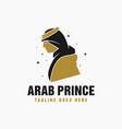 saudi arabia prince or king logo vector image