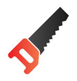 saw flat icon carpentry color icons in trendy vector image vector image