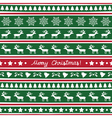 Seamless Christmas background15 vector image vector image