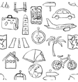 seamless sketch travel pattern vector image vector image