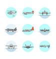 set of multicolor army icons vector image