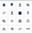 set of simple logistics icons vector image vector image