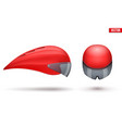set of time trial bicycle helmets vector image vector image