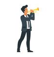 singing jazz beautiful man vector image