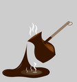 splashing coffee vector image vector image