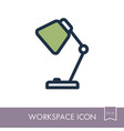 table lamp outline icon workspace sign vector image