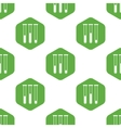 Test tubes pattern vector image vector image
