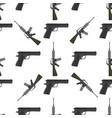 weapons handgun pistol submachine hand gun vector image vector image