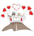 wedding car vector image