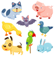 Cute animals set vector image