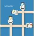 Navigation app vector image