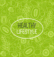 healthy food poster or banner vector image