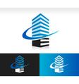 Swoosh Modern Building Logo Icon