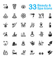 33 black beauty and spa icons vector image vector image