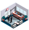 3d isometric interior of vector image vector image