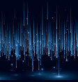 abstract blue matrix cyber space concept tech vector image