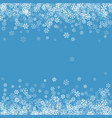 abstract pattern falling snowflakes vector image vector image