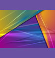 abstract vibrant gradients corporate brochure vector image vector image