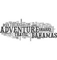 adventure in bahamas travel and tours text word vector image vector image