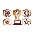 award camera photo gold logo icon vector image vector image