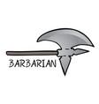 ax barbarian vector image vector image