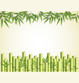bamboo leaves and sticks frame border vector image