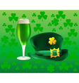 beer and clover icon vector image vector image
