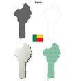 Benin outline map set vector image vector image