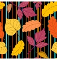 black Pattern leaves and stripes vector image vector image