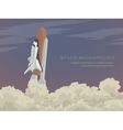 blast off launch pad Shuttle vector image