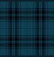 blue and black tartan plaid scottish pattern vector image vector image