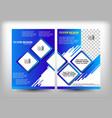 brochure design blue milk vector image