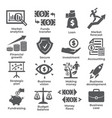 budget and finance icons on white background vector image
