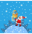 cartoon santa claus vector image vector image