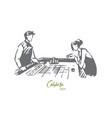 casino woman game poker gamble concept vector image vector image