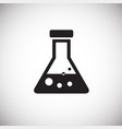 chemical flask on white background vector image vector image