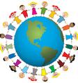 children around world vector image