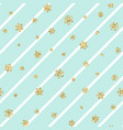 christmas gold snowflake seamless pattern golden vector image vector image