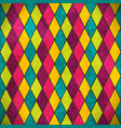 Colorful rhombus grunge background vector image vector image
