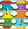 comic bright seamless pattern vector image vector image