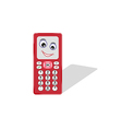 comic phone with eye and smile vector image vector image