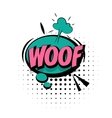 Comic sound effects pop art word Lettering Woof vector image vector image