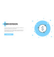 conversion icon banner outline template concept vector image vector image