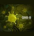 coronavirus covid19-2019 on a green background vector image