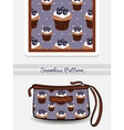 Cosmetic Bag Blueberry Cupcakes vector image vector image
