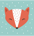cute fox cartoon scandinavian vector image vector image