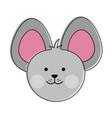cute mouse cartoon vector image vector image