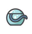 dental floss care icon cartoon vector image