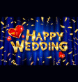 design a wedding greeting card template vector image vector image