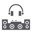 dj glyph icon party and music dj mixer sign vector image vector image